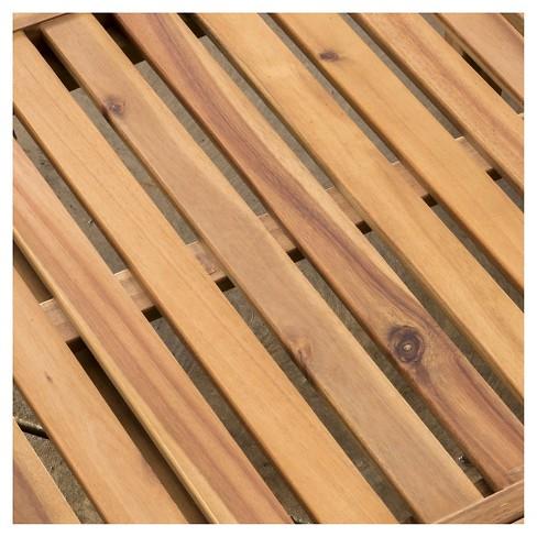 f1f706c984e Ariana Set Of 2 Acacia Wood Patio Chaise Lounge With Cushion - Teak ...