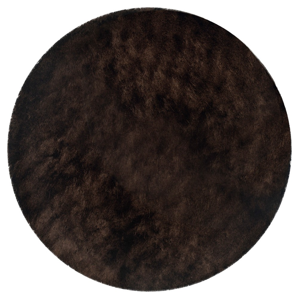 Chocolate (Brown) Solid Loomed Round Area Rug - (5' Round) - Safavieh