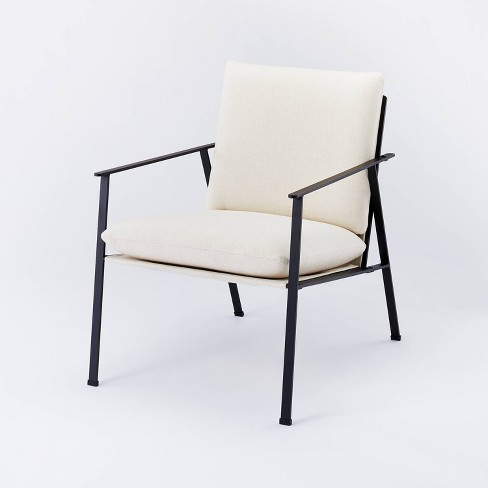 Lark Metal Frame Accent Chair with Loose Cushions White - Threshold™ designed with Studio McGee - image 1 of 4