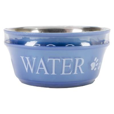 Buddy's Line Food & Water Double Pet Bowl Set - Blue (1qt)