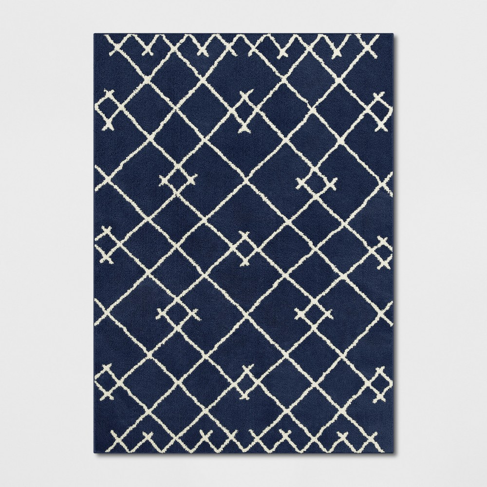 5'X7' Kenya Tribal Design Tufted Area Rugs Navy (Blue) - Project 62