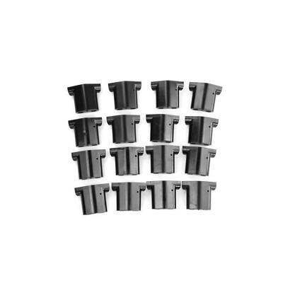 Advantek 23216 Black Replacement Plastic Vinyl Fence Gate Panel Connectors Pet Gazebo, 16 Pack