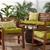 Set of 2 Solid Outdoor Seat Cushions - Kensington Garden - image 3 of 4