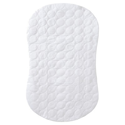 HALO Bassinest Swivel Sleeper Waterproof Mattress Pad – Quilted White