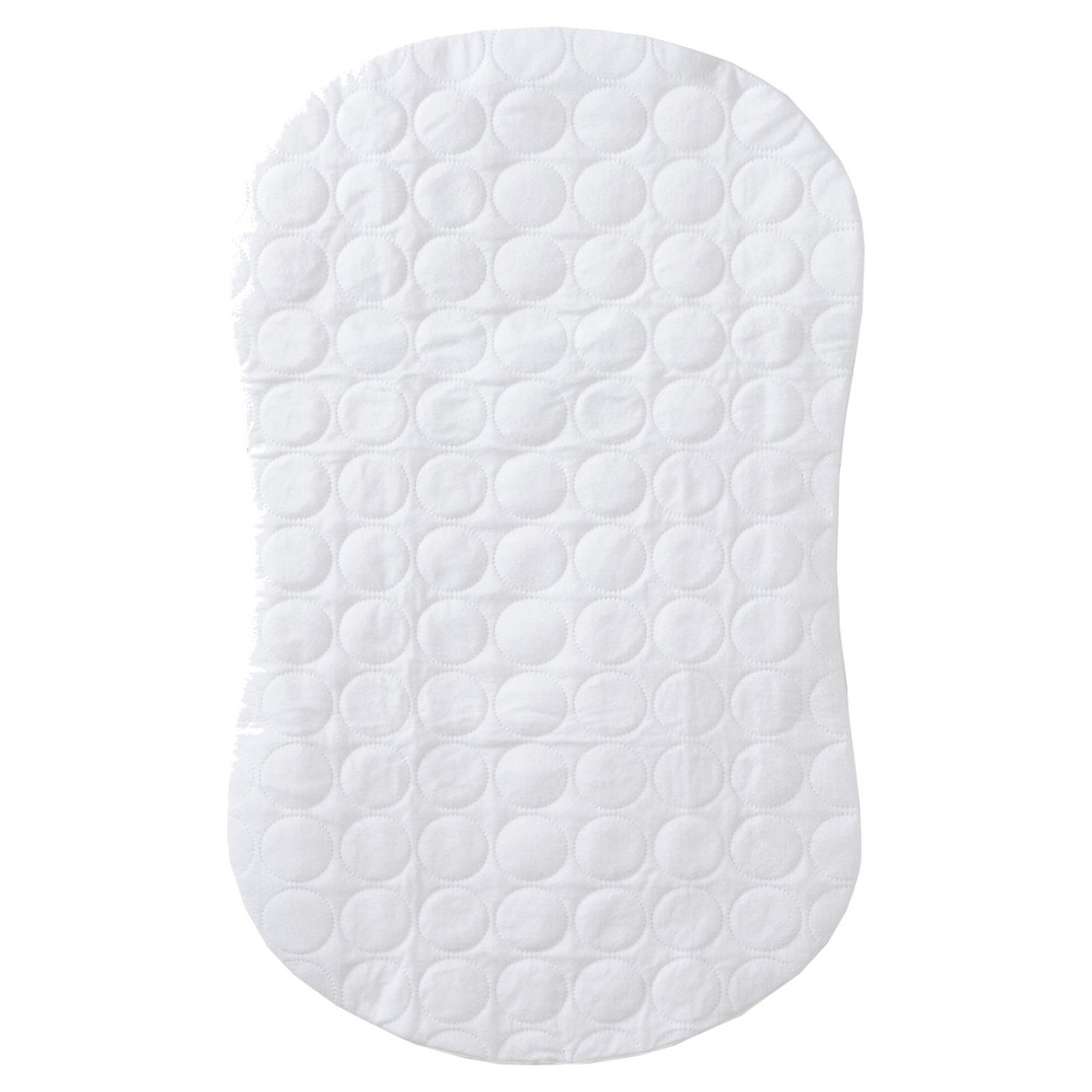 Image of Halo Bassinest Swivel Sleeper Waterproof Mattress Pad – Quilted White