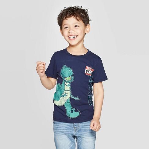 Toddler Boys' Toy Story Rex Short Sleeve T-Shirt - Navy 12M - image 1 of 5