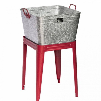 72qt Metal Tub with Stand Gray - Backyard Expressions