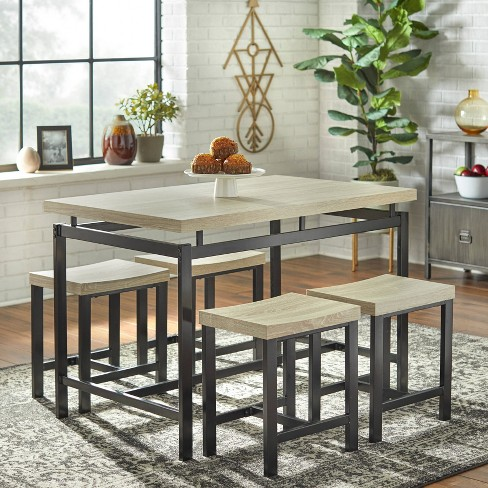 Stupendous 5Pc Liberty Dining Set Natural Buylateral Caraccident5 Cool Chair Designs And Ideas Caraccident5Info