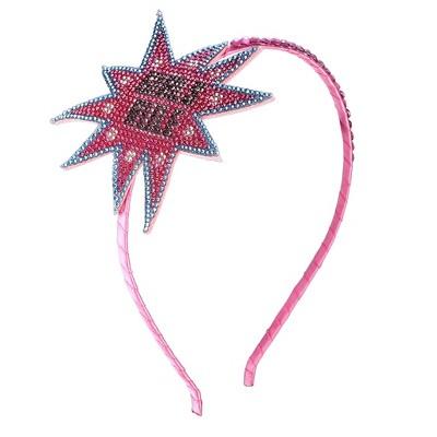 Liv & Ava GIRLS HEADBAND - GIRLS RULE Pink