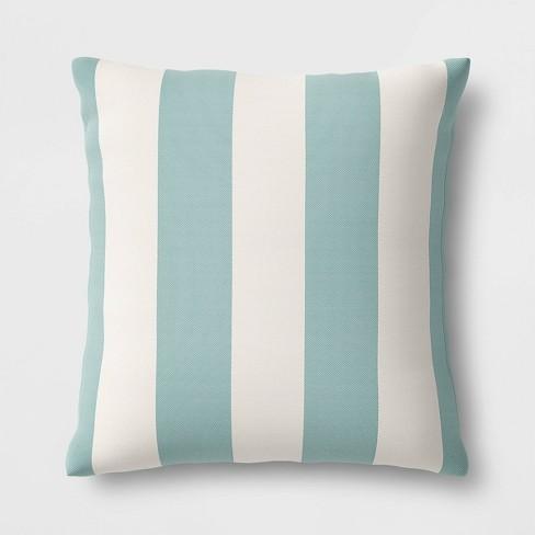 Cabana Stripe Outdoor Throw Pillow DuraSeason Fabric™ - Threshold™ - image 1 of 2