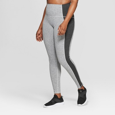 Women's Plus Size Urban High Waisted Leggings   C9 Champion® Black Heather Jacquard by C9 Champion®