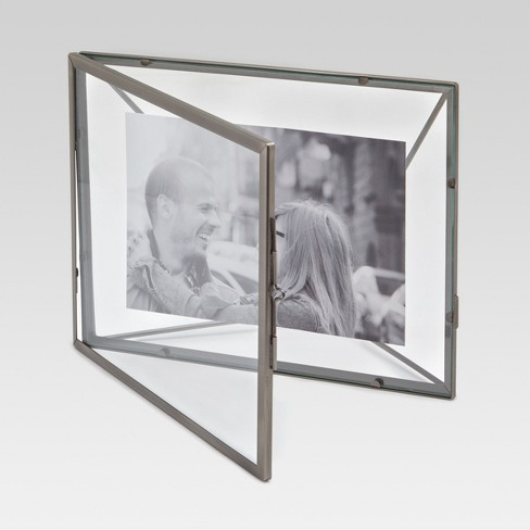 4x6 Thin Metal Frame Silver Threshold Target