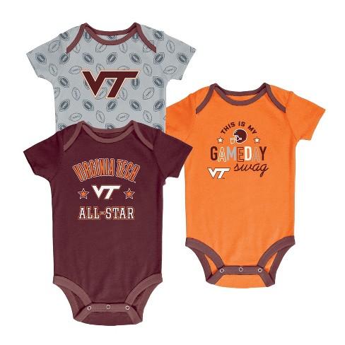Virginia Tech Hokies Baby Boy Short Sleeve 3pk Bodysuit - image 1 of 1