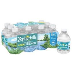 Zephyrhills Brand 100% Natural Spring Water - 12pk/8 fl oz Mini Bottles