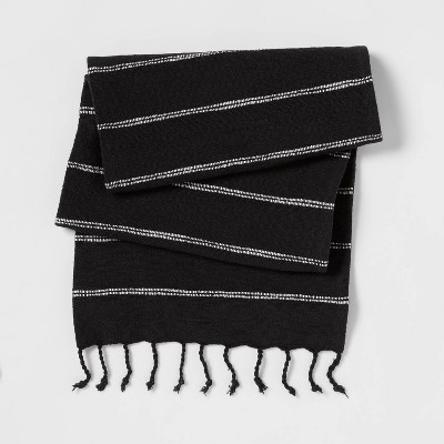 Cotton Striped Table Runner Black - Threshold™