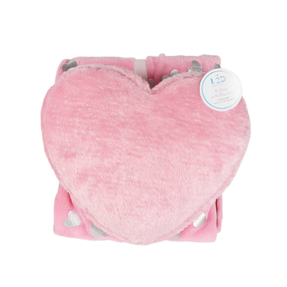 Image of Heart Throw and Pillow Set