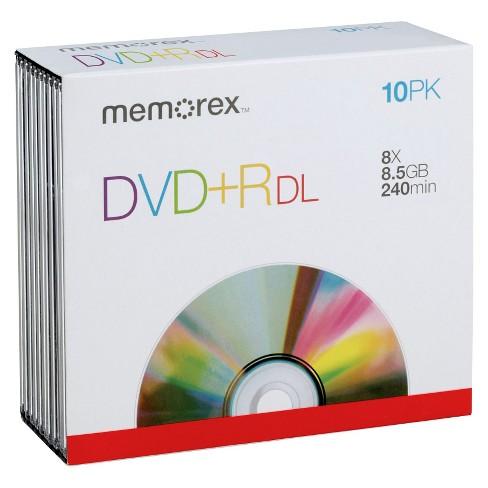 Memorex DVD+R DL Jewel Case Disc Pack - 10 PK
