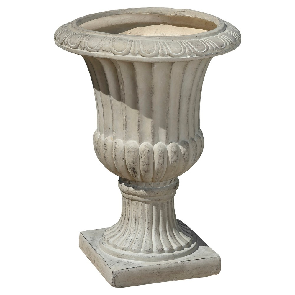 Image of 26 Italian Cast Stone Patio Urn - Christopher Knight Home, Antique Green