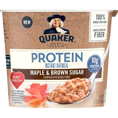 Quaker Instant Oatmeal Cup Protein Maple Brown Sugar - 2.11oz
