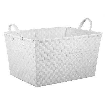 Rectangular Woven Toy Storage Bin White - Pillowfort™