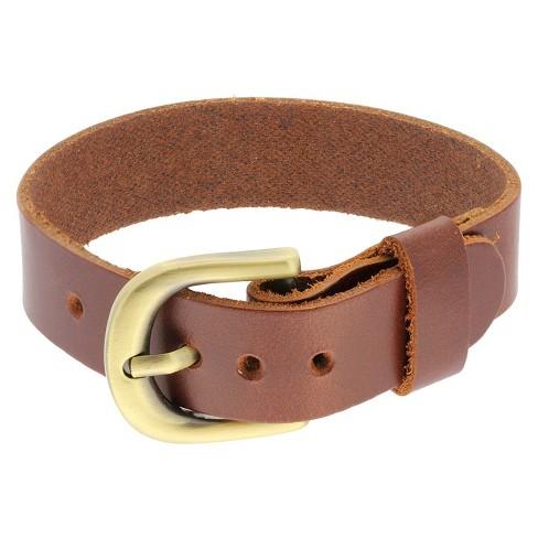 Men S Leather Strap Belt Buckle