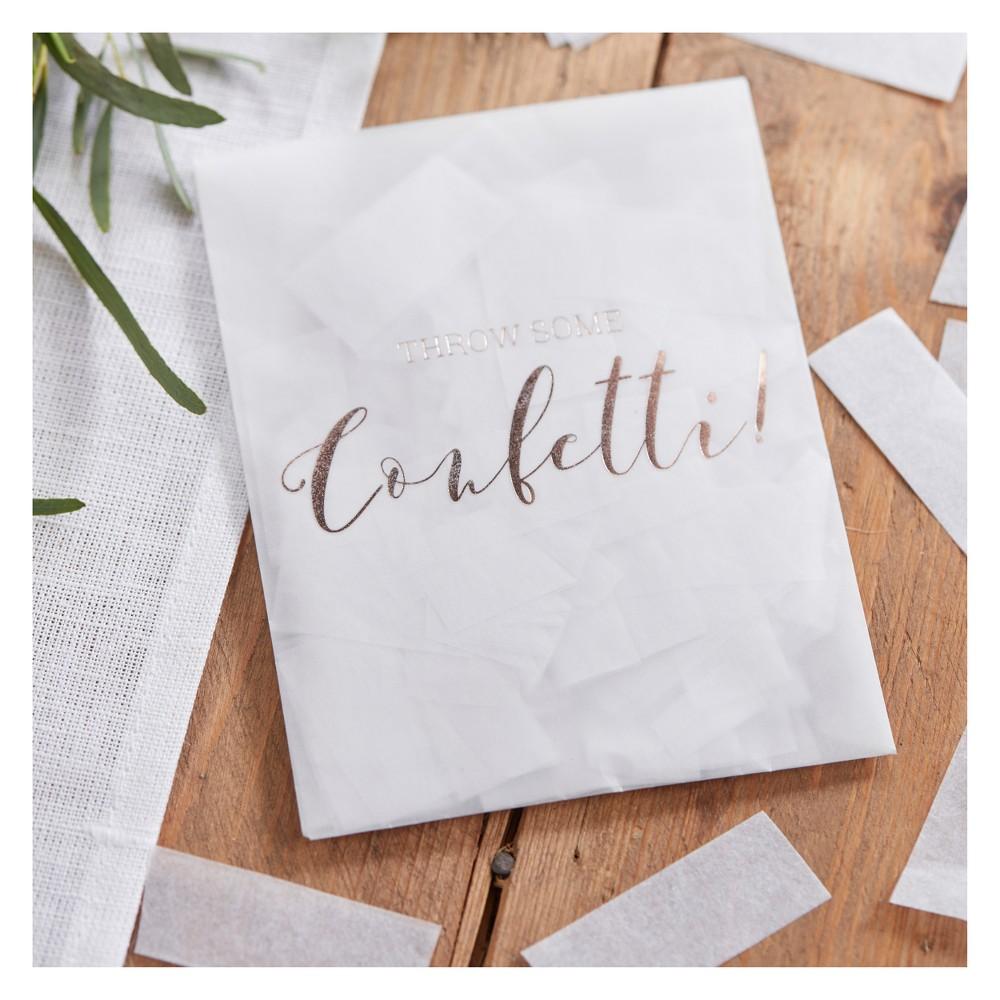 """Image of """"""""""""Throw Some Confetti"""""""" Tissue Paper Envelopes White"""""""
