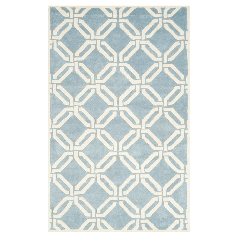 Blue/Ivory Abstract Tufted Area Rug - (6'x9') - Safavieh