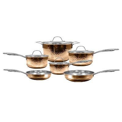 Cooks' Club Santa Fe 10pcs Set - Copper