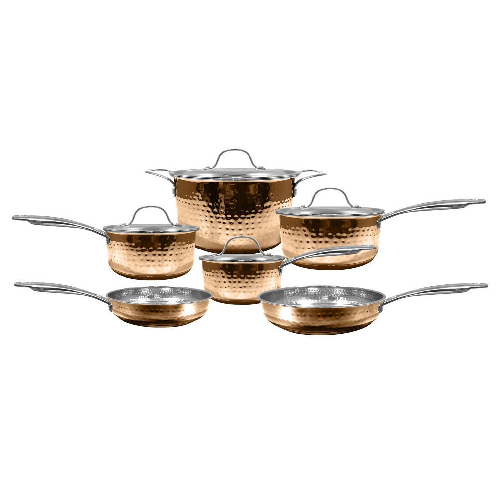 Image of Cooks' Club Santa Fe 10pcs Set - Copper (Brown)
