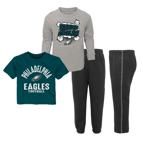 NFL Philadelphia Eagles Toddler Gametime Fun 3pk Shirt  Pants Set ... da50d47b1