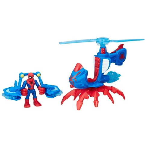 Playskool Heroes Marvel Super Hero Adventures Spider-Man Jet-Copter - image 1 of 9