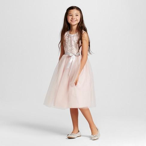 59c4df8be8642 Girls' Sparkle Skirt Dress - Tevolio™ Pink 6X : Target