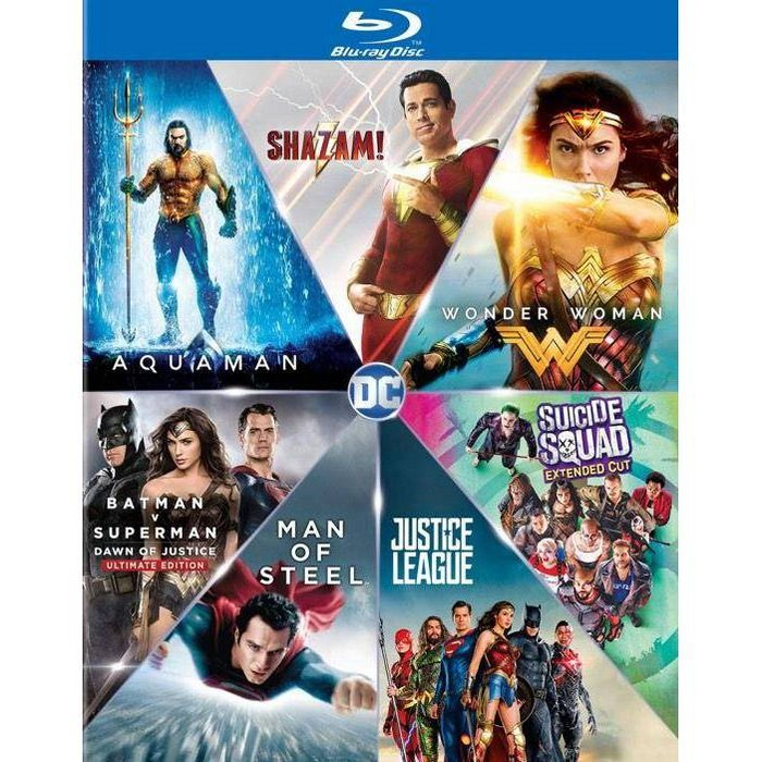 DC 7 Film Collection: Shazam/Aquaman/Wonder Woman/Suicide Squad/Batman v Superman/Man of Steel/Justice - image 1 of 1