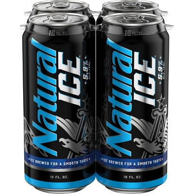 Natural Ice Beer - 4pk/16 fl oz Cans