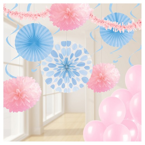 Pastel Pink And Blue Party Decorations Kit - image 1 of 1