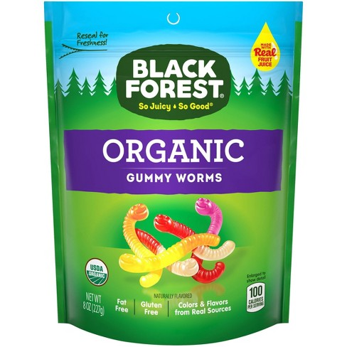 Black Forest Organic Gummy Worms 8oz Resealable Stand Up Bag - image 1 of 4