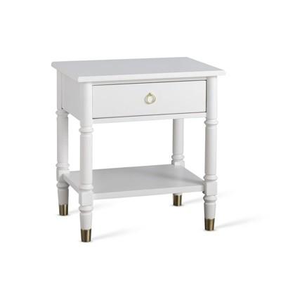 Jillian One Drawer Nightstand in White - Comfort Pointe