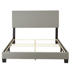 Langley Leather Upholstered Platform Bed Frame - Eco Dream