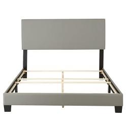 Langley Leather Upholstered Platform Bed Frame - Eco Dream