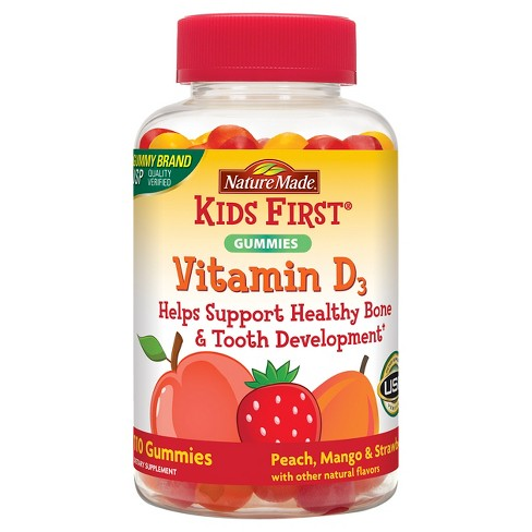 Nature Made Kids First Vitamin D Dietary Supplement Gummies - 110ct - image 1 of 3