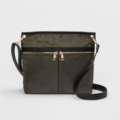 27efe313d7 Nylon Messenger Crossbody Bag – A New Day™ Olive Drab – Target ...