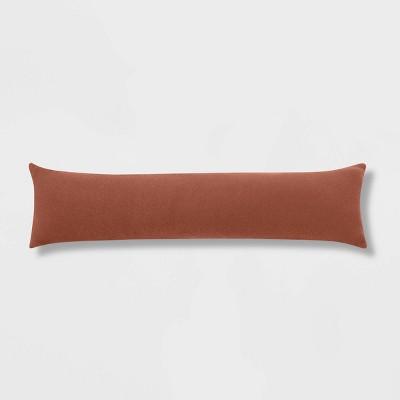 Lumbar Boucle Color Blocked Decorative Throw Pillow Rust - Threshold™