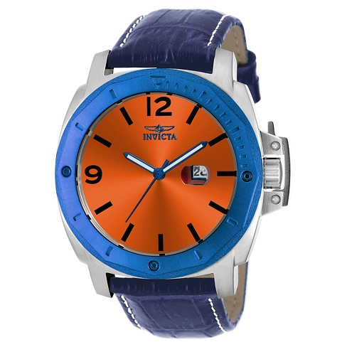Men's Invicta 18837 Specialty Quartz 3 Hand Orange Dial Strap Watch - Orange - image 1 of 1