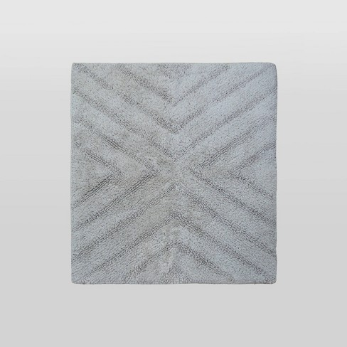 Textured Stripe Square Bath Rugs