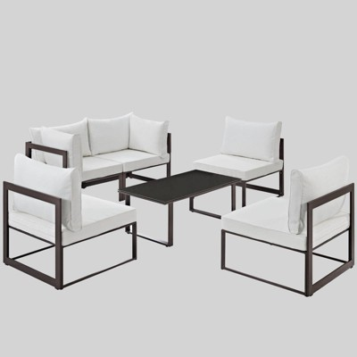 Fortuna 6pc Outdoor Patio Sectional Sofa Set - Modway