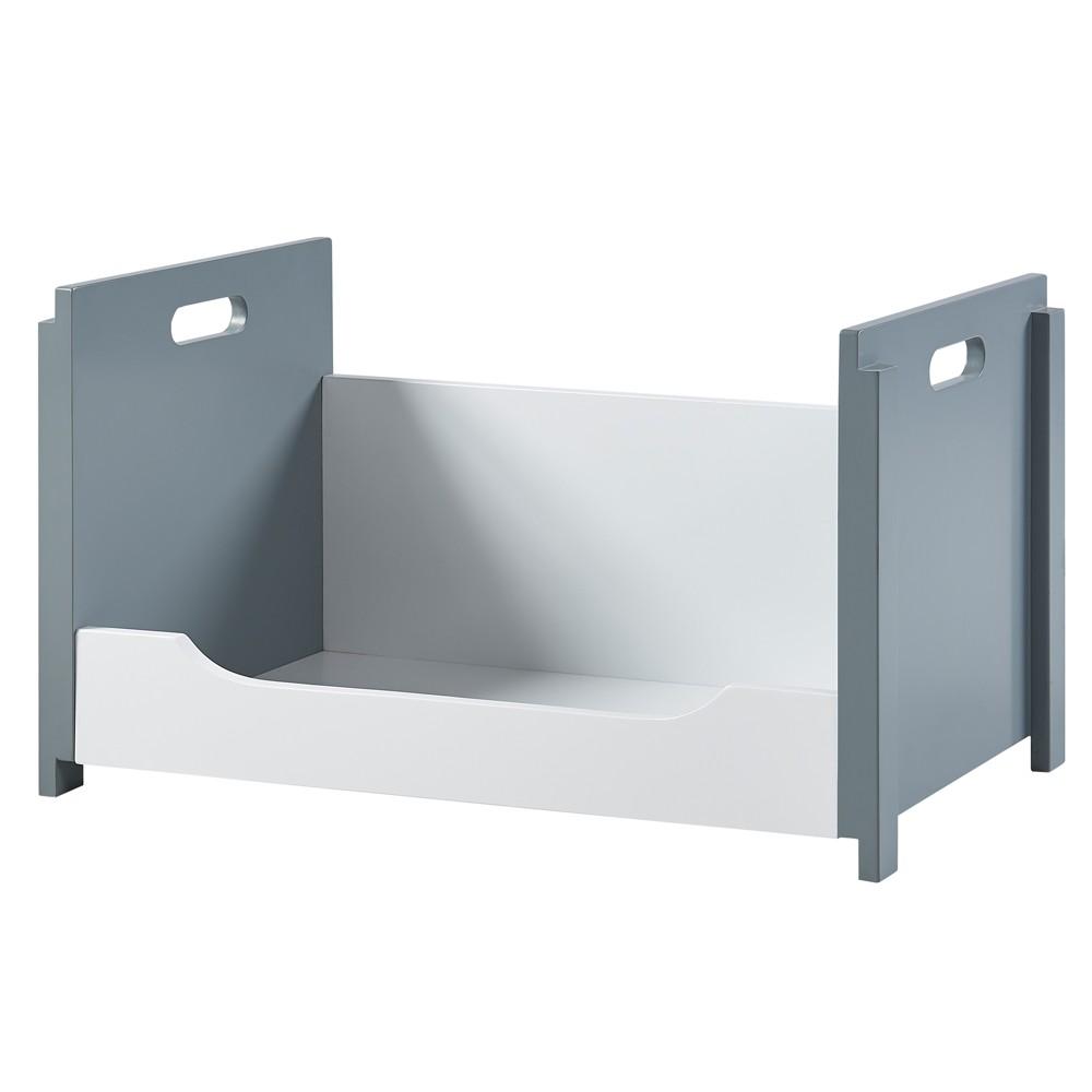 Image of Cubo Stacking Storage Unit A - White/Gray - Versanora