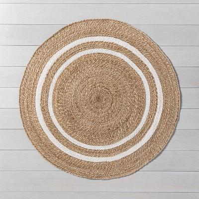 Shop 5' Round Jute Stripe Rug - Hearth & Hand™ with Magnolia from Target on Openhaus