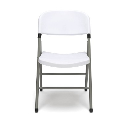 Set of 4 Plastic Folding Chair White - OFM