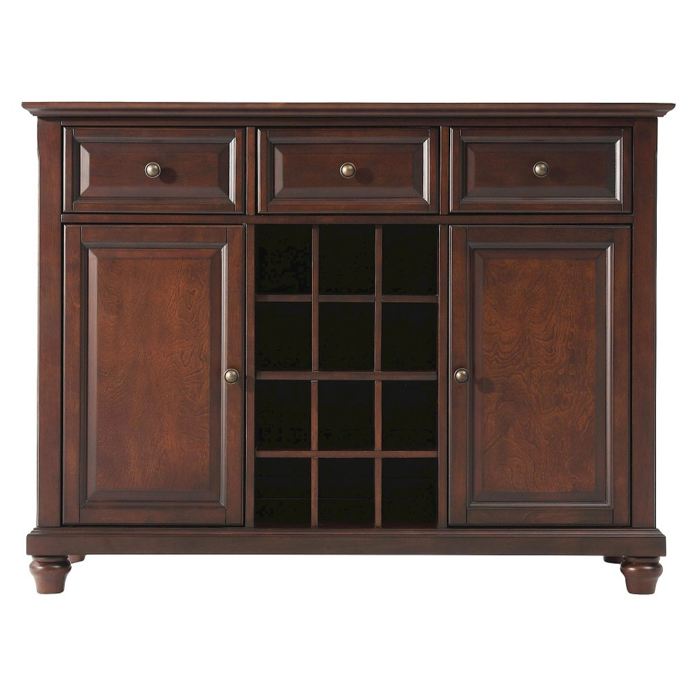 Cambridge Buffet Wood/Vintage Mahogany (Brown) - Crosley