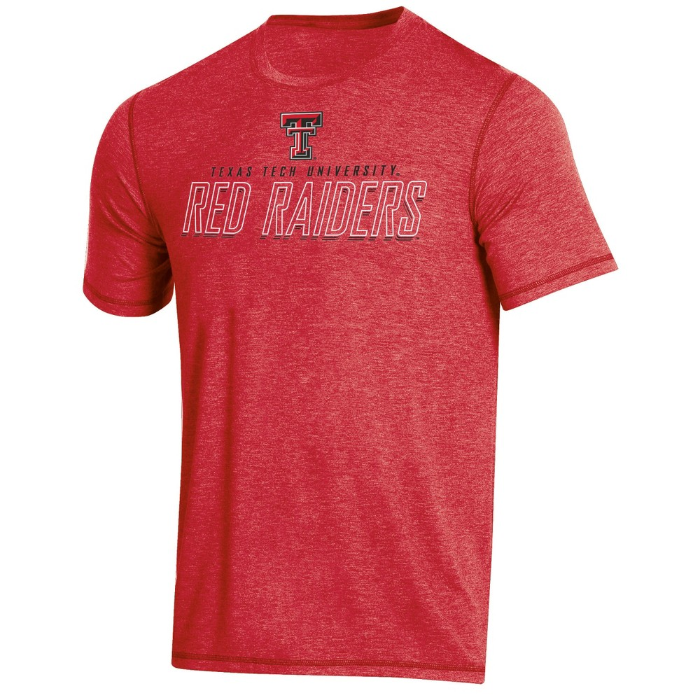 NCAA Men's Short Sleeve Poly T-Shirt Texas Tech Red Raiders - S, Multicolored